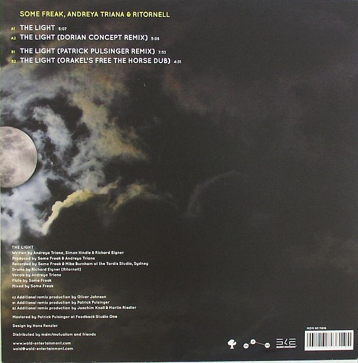 SOME FREAK/ANDREYA TRIANA/RITORNELL - The Light (remixes)