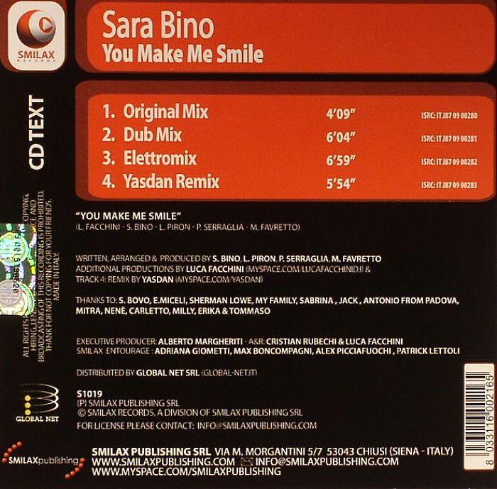 BINO, Sara - You Make Me Smile