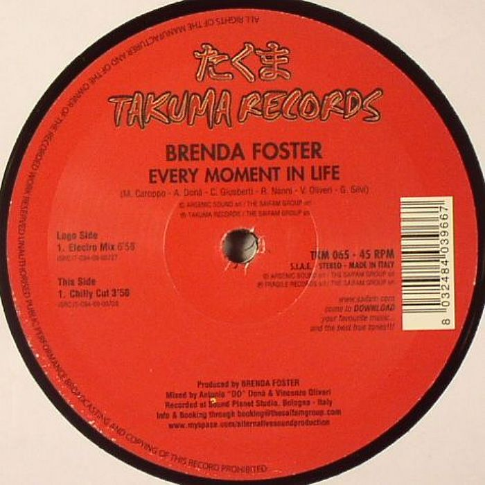 FOSTER, Brenda - Every Moment In Life