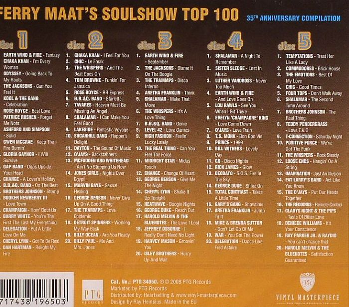 Ferry Maat S Various Soul Show Top 100 35th Anniversary