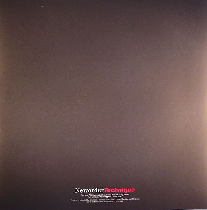 NEW ORDER - Technique
