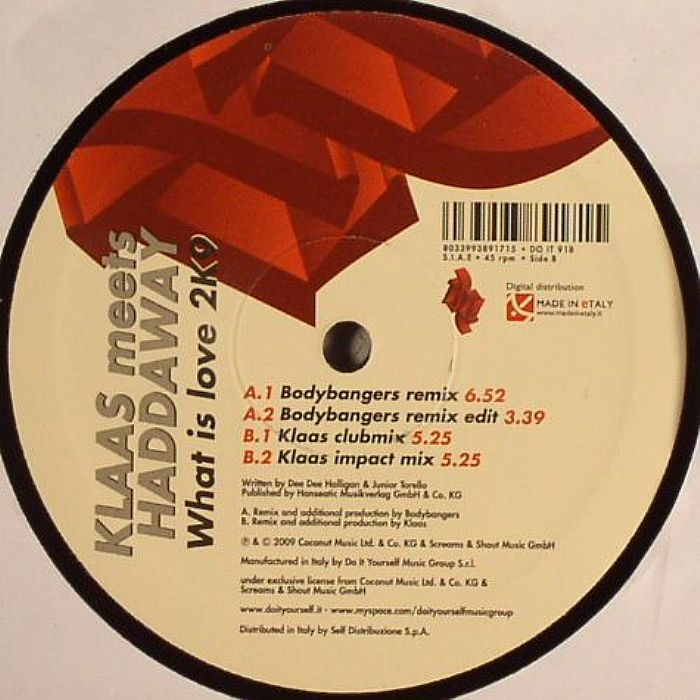 klaas meets haddaway what is love 2k9 klaas impact mix 1, what is love 2k9 (klaas radio edit), 3:24 2, what is love 2k9 (klaas club mix), 5:28 3, what is love 2k9 (klaas impact mix edit), 3:24 4, what is love 2k9 (klaas impact mix), 5:28 5, what is love 2k9 (bodybangers remix edit) remix – bodybangers 3:37 6, what is love 2k9 (bodybangers remix.