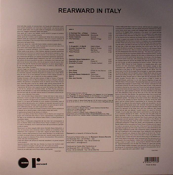 FRISINA, Gerardo/VARIOUS - Rearward In Italy: A Selection Of Rare Italian Jazz Tunes