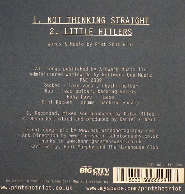 PINT SHOT RIOT - Not Thinking Straight