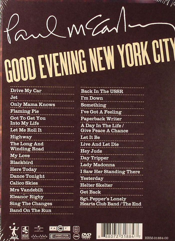 Paul Mccartney Good Evening New York City Vinyl At Juno