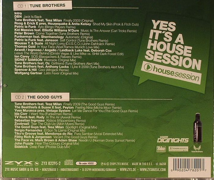 TUNE BROTHERS/THE GOOD GUYS/VARIOUS - Yes It's A House Session