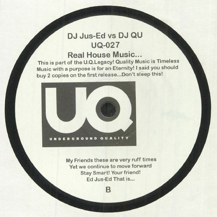 Dj jus ed vs dj qu real house music vinyl at juno records for Real house music