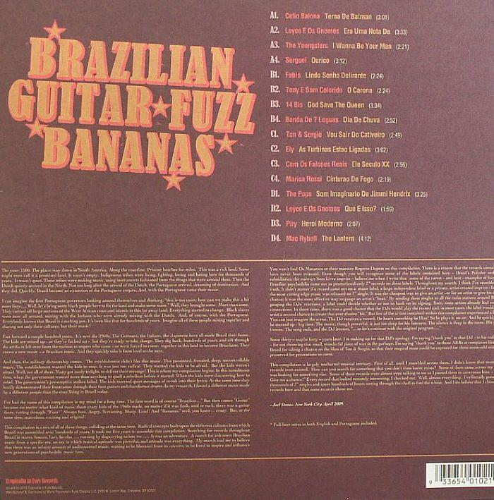 VARIOUS - Brazilian Guitar Fuzz Bananas: Tropicalia Psychedelic Masterpieces 1967-1976