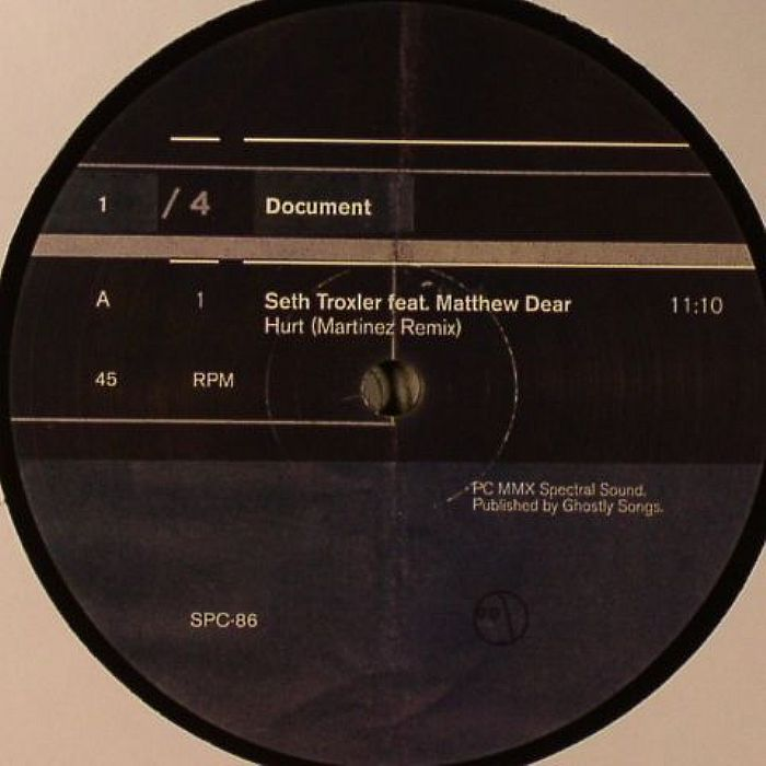 TROXLER, Seth feat MATTHEW DEAR/RYAN CROSSON/LEE CURTISS - Document Part 1
