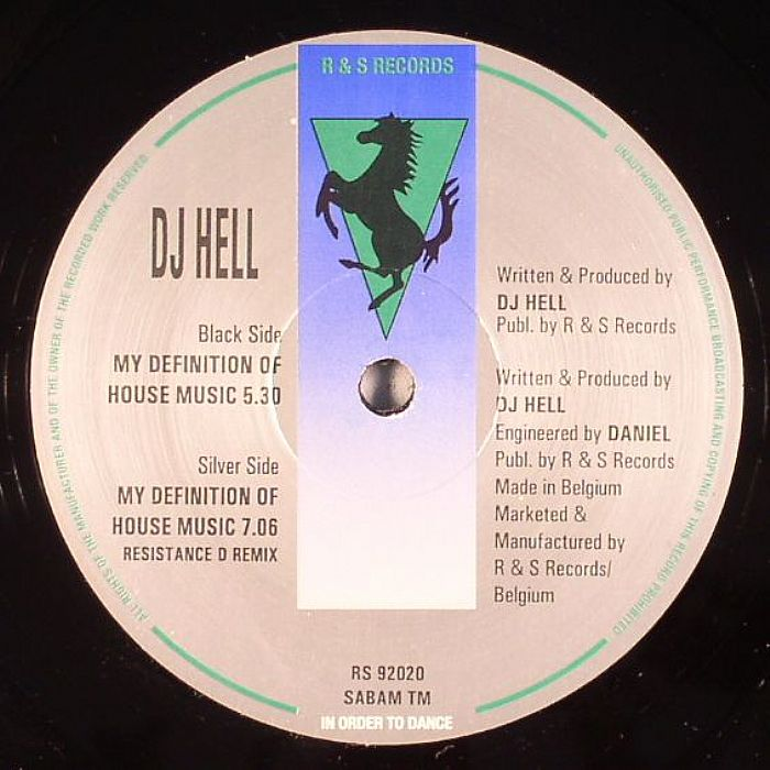 Dj hell my definition of house music vinyl at juno records for My house house music