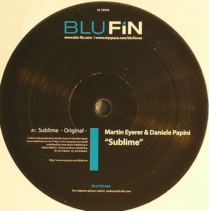EYERER, Martin/DANIELE PAPINI - Sublime