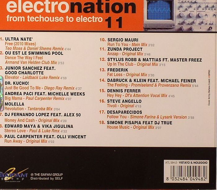 VARIOUS - Electro Nation Vol 11: From Techouse To Electro