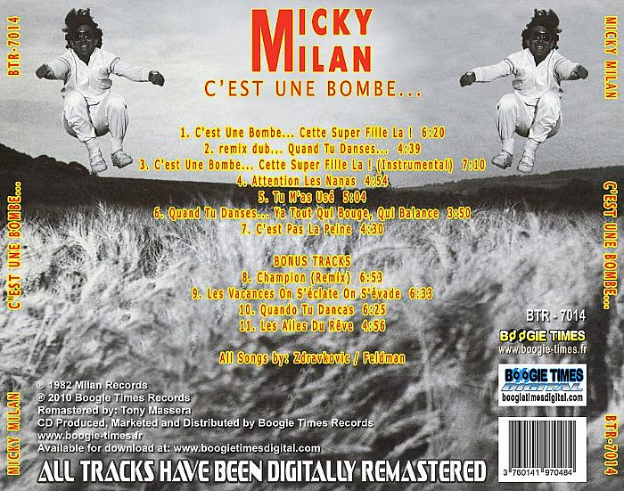 Micky Milan CEst Une Bombe