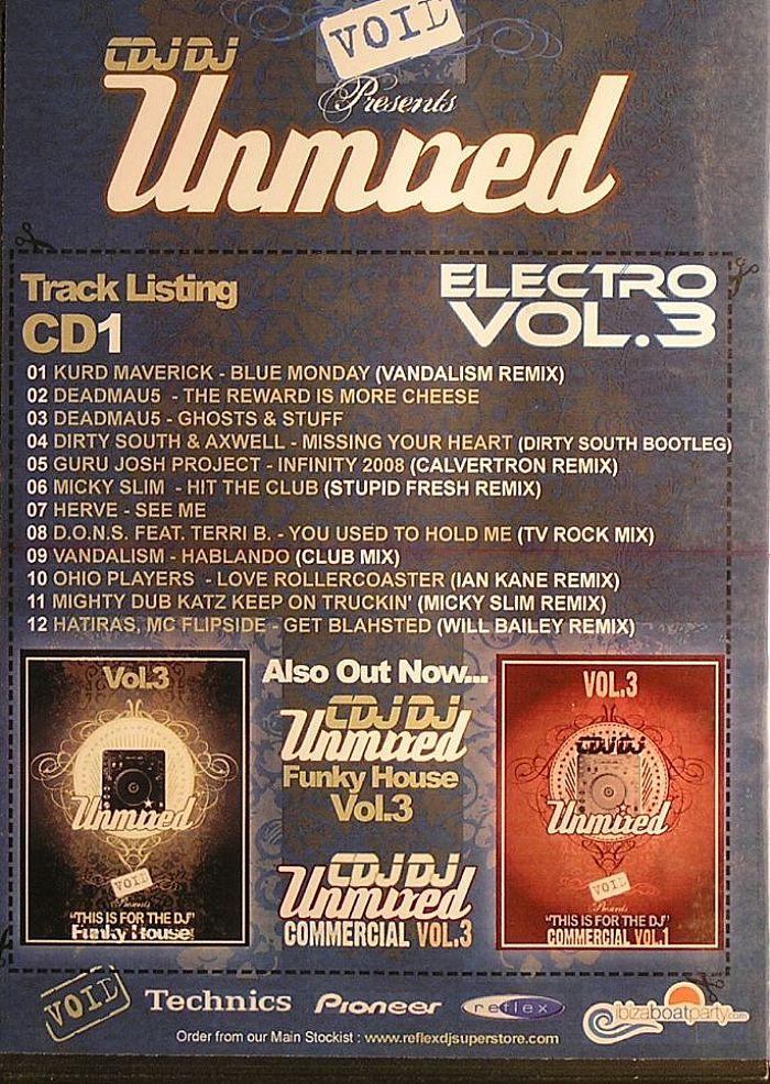 VARIOUS - Void Presents  CDJDJ Unmixed Electro Vol 3