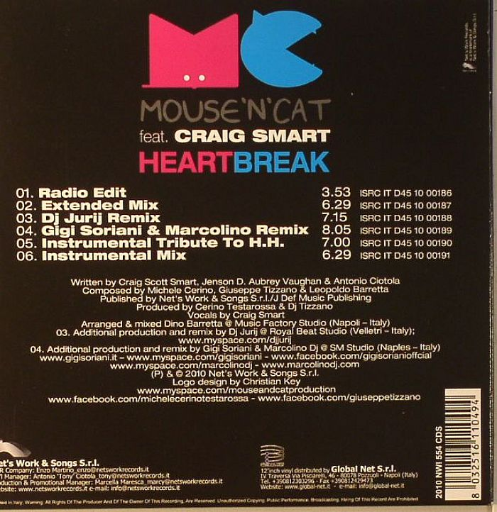 MOUSE N CAT feat CRAIG SMART - Heart Break