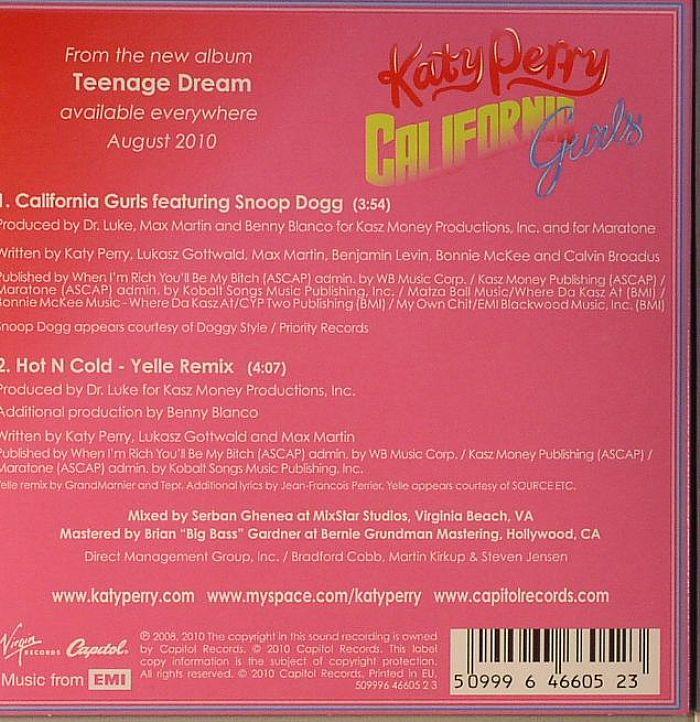 PERRY, Katy - California Gurls