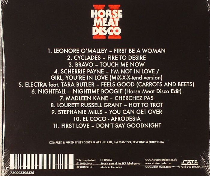 HILLARD, James/JIM STANTON/SEVERINO/FILTHY LUKA/VARIOUS - Horse Meat Disco II