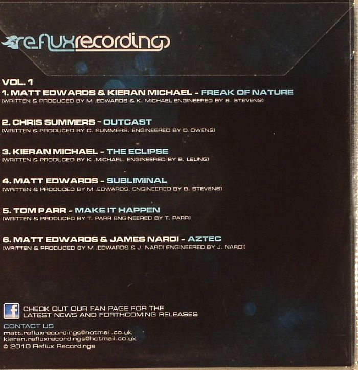 EDWARDS, Matt/KIERAN MICHAEL/CHRIS SUMMERS/KIERAN MICHAEL/MATT EDWARDS/TOM PARR/MATT EDWARDS/JAMES NARDI - Reflux Recordings Volume I