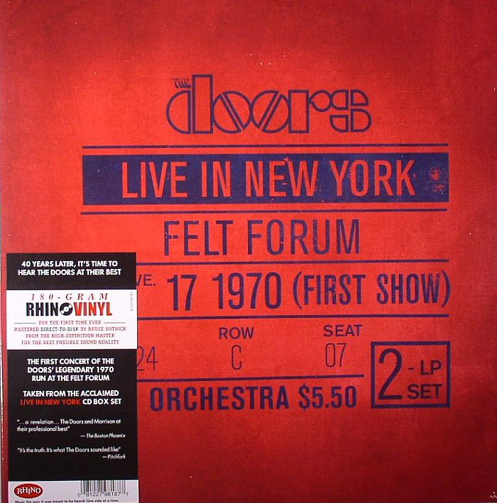 DOORS, The - Live In New York January 17 1970 (First Show)