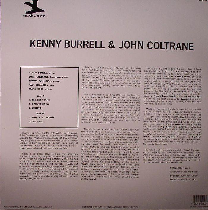 BURRELL, Kenny/JOHN COLTRANE - Kenny Burrell & John Coltrane