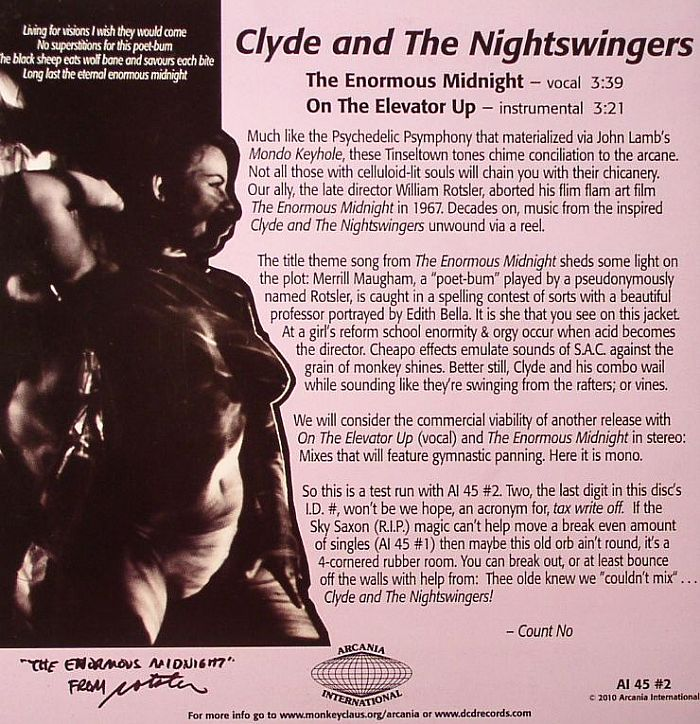 CLYDE & THE NIGHTSWINGERS - The Enormous Midnight