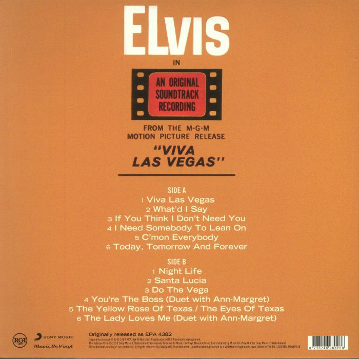 PRESLEY, Elvis - Viva Las Vegas (Soundtrack) (remastered)