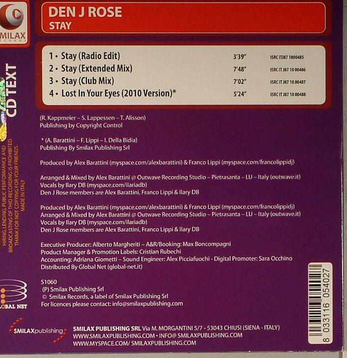 DEN J ROSE - Stay