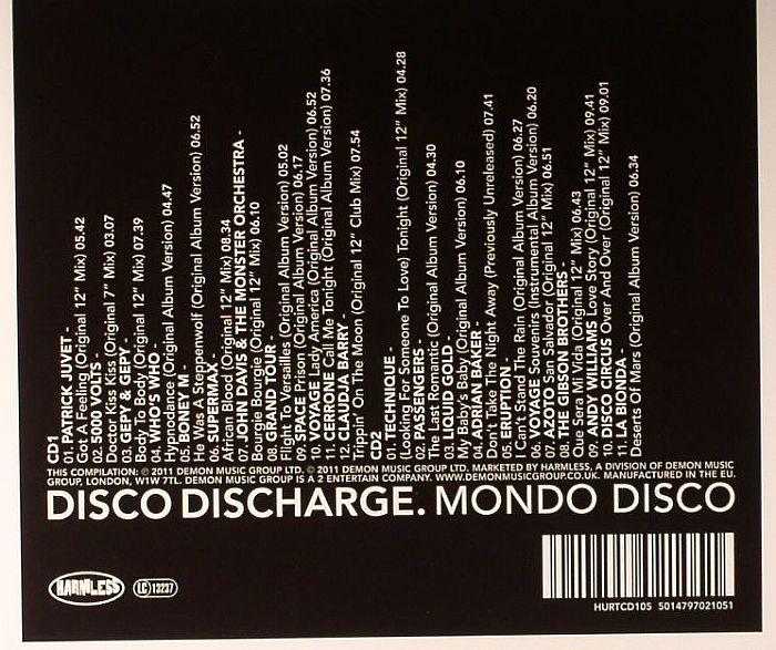VARIOUS - Disco Discharge: Mondo Disco