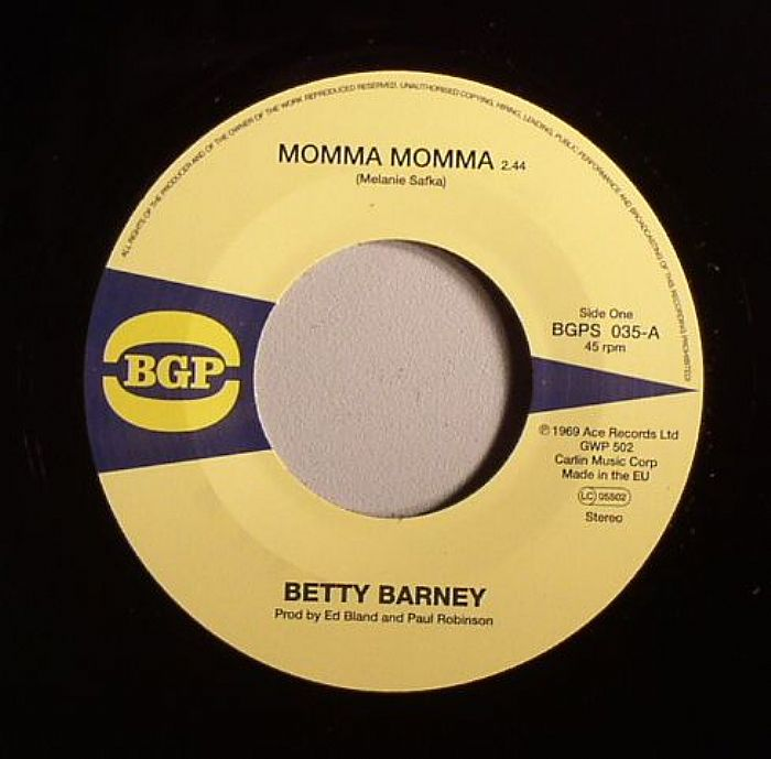 BARNEY, Betty/THE CHILLI PEPPERS - Momma Momma