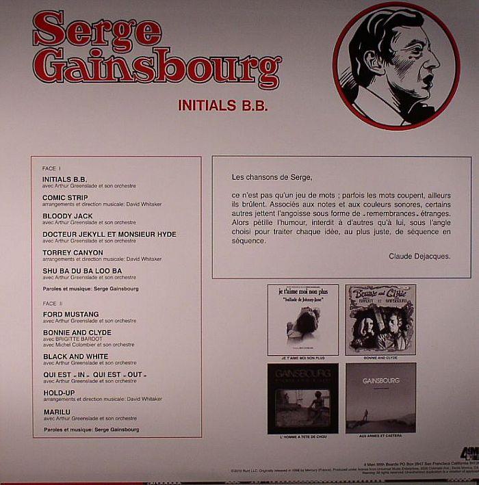 GAINSBOURG, Serge - Initials BB