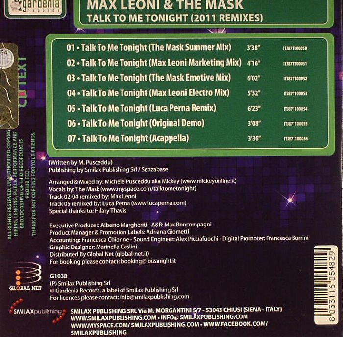 LEONI, Max/THE MASK - Talk To Me Tonight