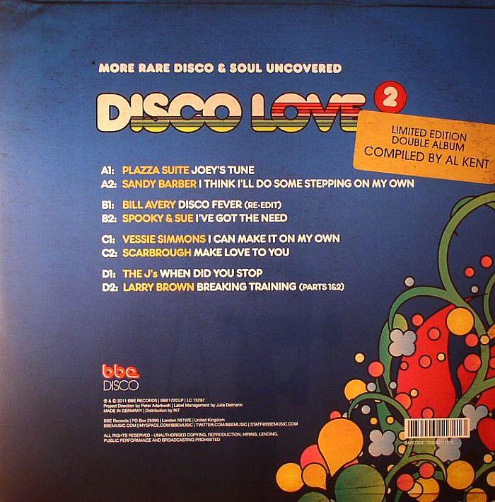 KENT, Al/VARIOUS - Disco Love 2: More Rare Disco & Soul Uncovered