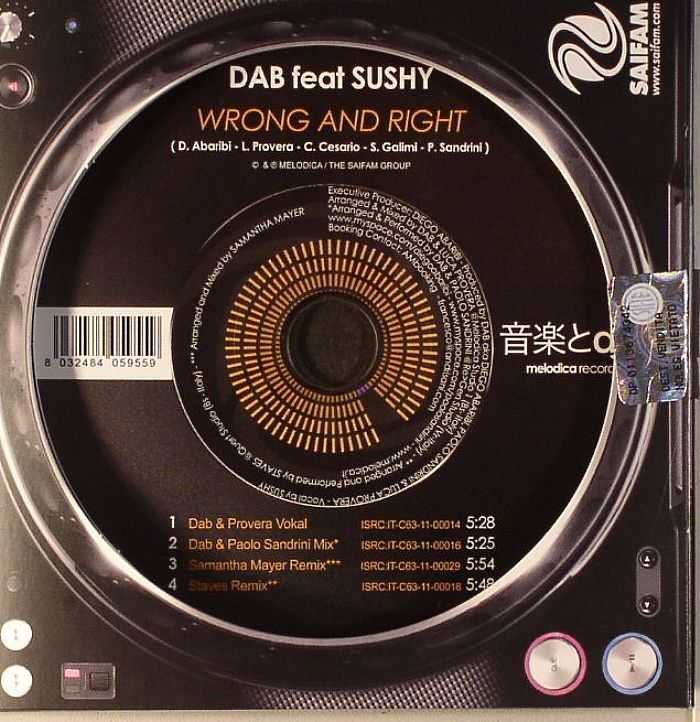 DAB feat SUSHY - Wrong & Right