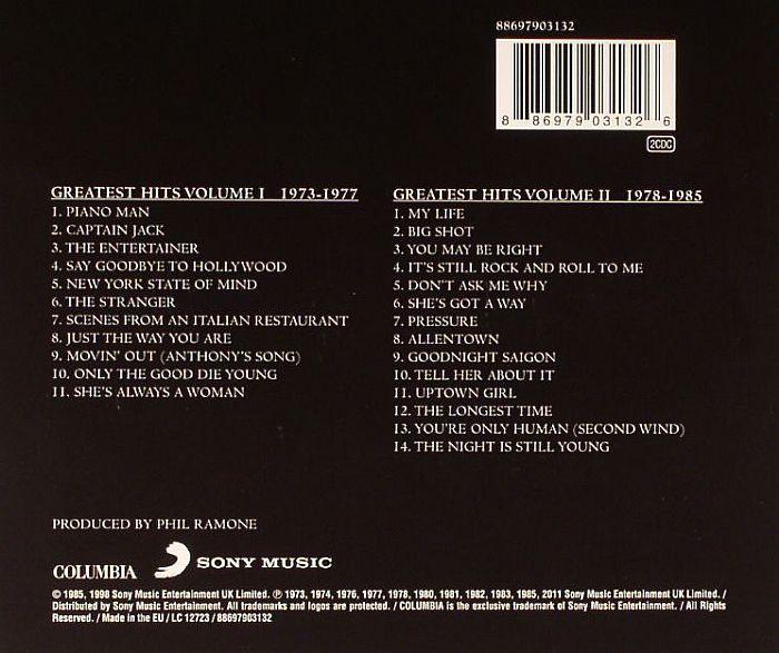 Greatest Hits Vols 1 2 Billy Joel: Billy JOEL Greatest Hits Vol 1 & 2 Vinyl At Juno Records