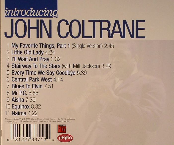 COLTRANE, John - Introducing