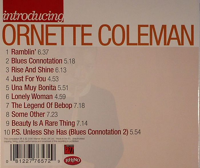 COLEMAN, Ornette - Introducing