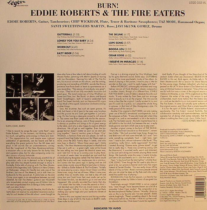 ROBERTS, Eddie/THE FIRE EATERS - Burn
