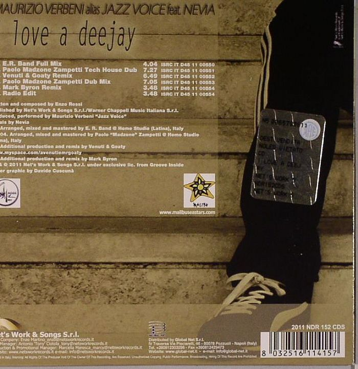 VERBENI, Maurizio aka JAZZ VOICE feat NEVIA - I Love A Deejay
