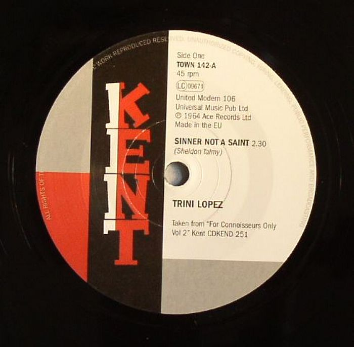 Trini Lopez - Sinner Not A Saint / If