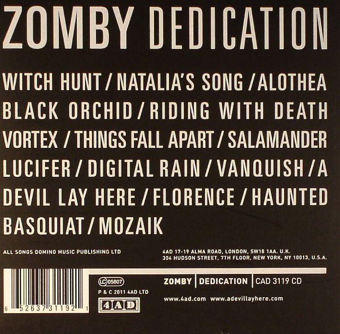 Zomby Dedication Vinyl At Juno Records