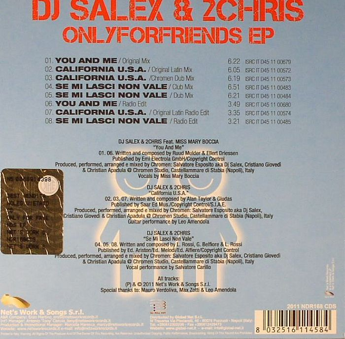 DJ SALEX/2CHRIS - Onlyforfriends EP