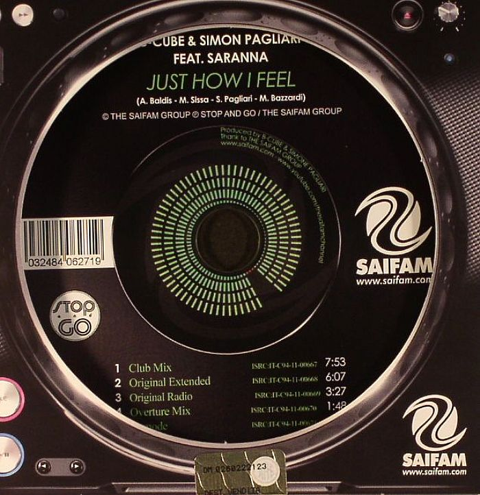 B CUBE/SIMON PAGLIARI feat SARANNA - Just How I Feel