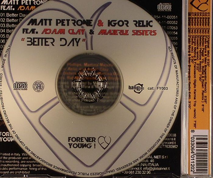 PETRONE, Matt/IGOR RELIC feat ADAM CLAY & MAJERLE SISTERS - Better Day