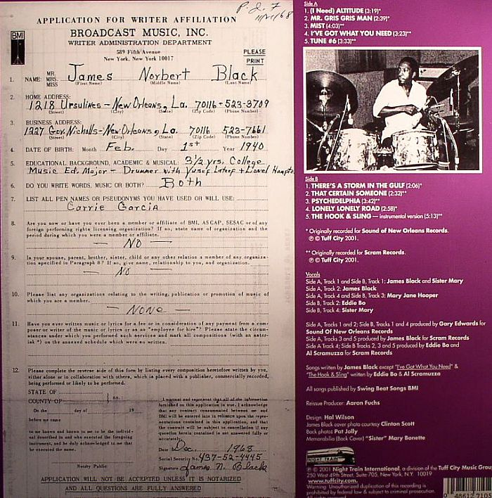 James BLACK (I Need) Altitude: Rare & Unreleased New