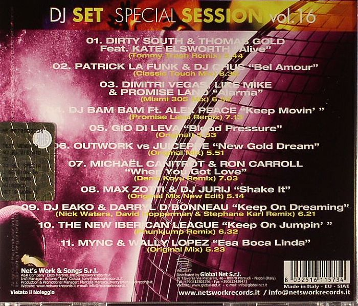 VARIOUS - DJ Set Special Session Vol 16