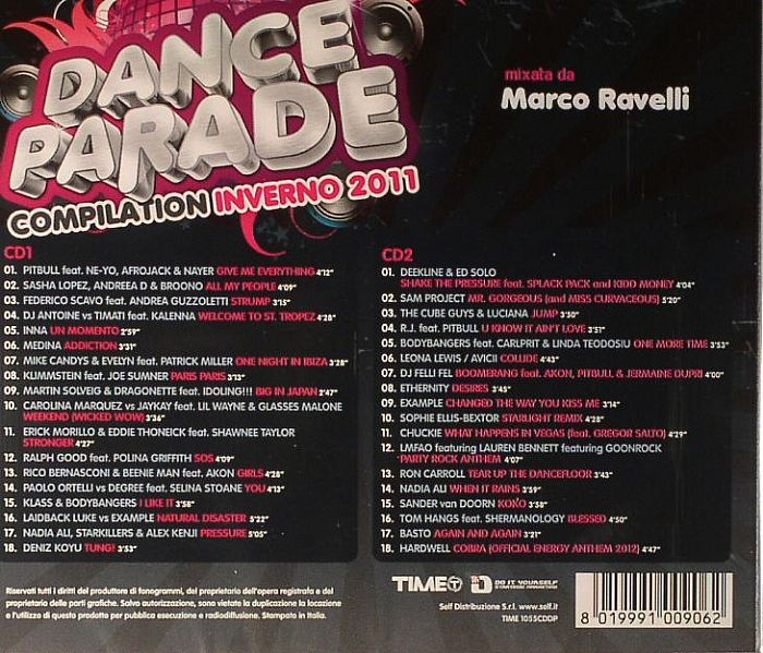 RAVELLI, Marco/VARIOUS - Dance Parade Compilation Inverno 2011