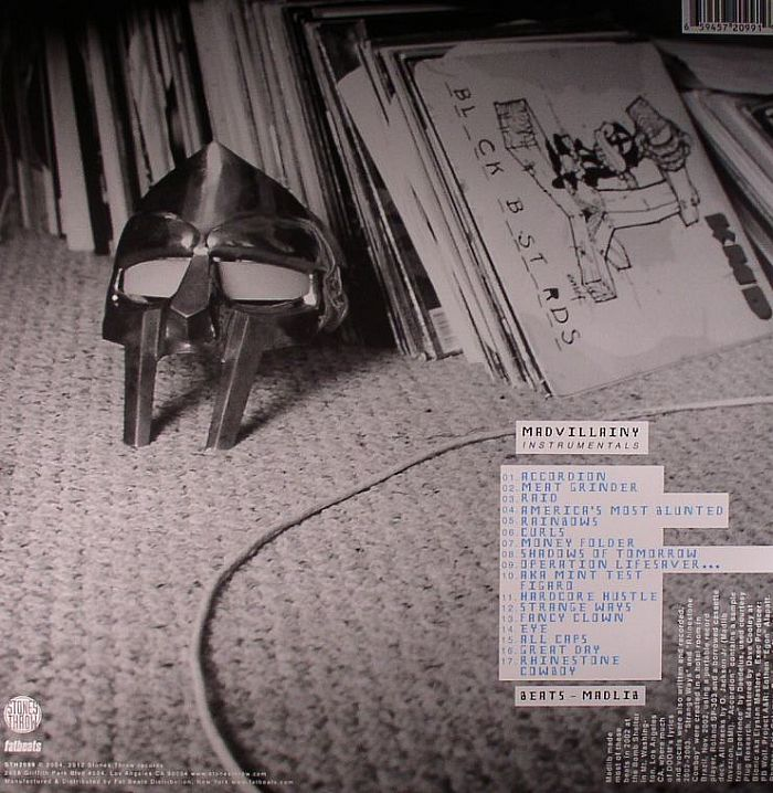 MADVILLAIN  aka MF DOOM/MADLIB - Madvillainy Instrumentals: Colour Sleeve Version