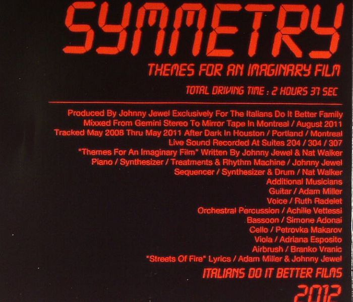 Johnny Jewel Presents Symmetry Themes For An Imaginary