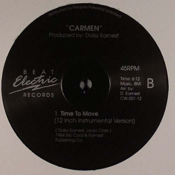 Carmen Time To Move Vinyl At Juno Records