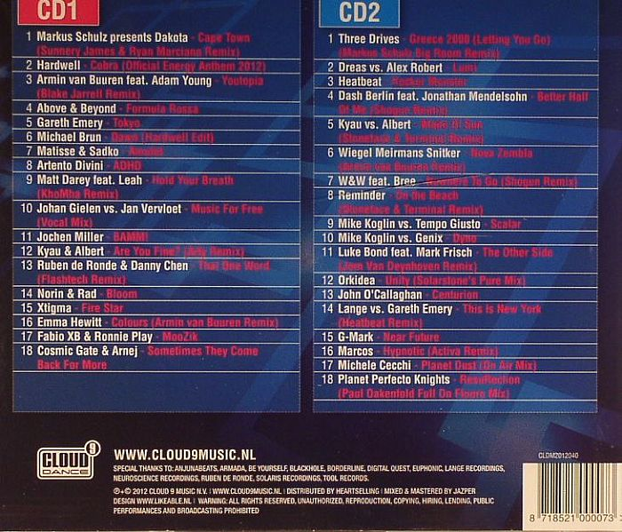 VARIOUS - Trance The Ultimate Collection Volume 1 2012